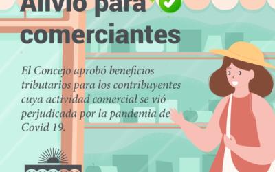 EL CONCEJO APROBO BENEFICIOS TRIBUTARIOS PARA COMERCIANTES